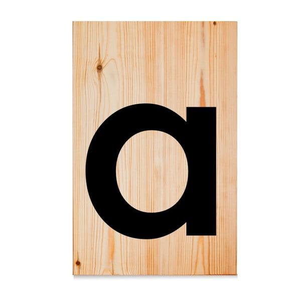 Drevená ceduľa Letters A