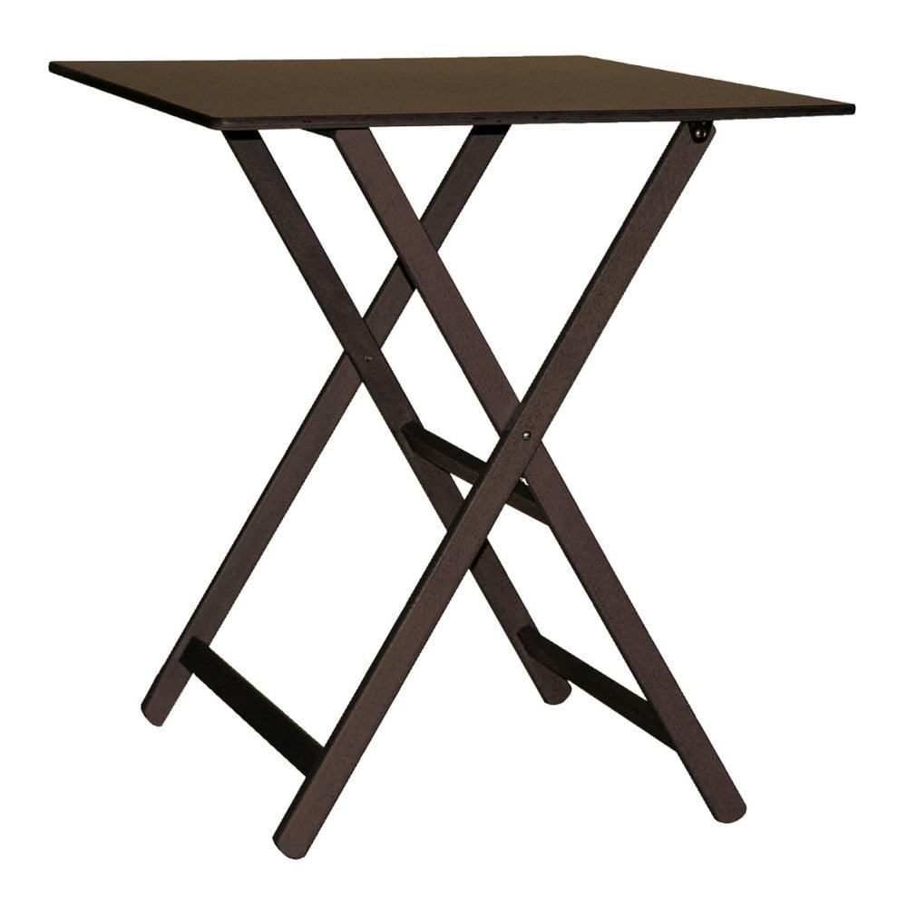 Tmavohnedý drevený skladací stôl Valdomo Maison, 60 x 80 cm