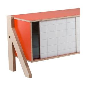 Oranžová komoda rform Frame, dĺžka 115 cm
