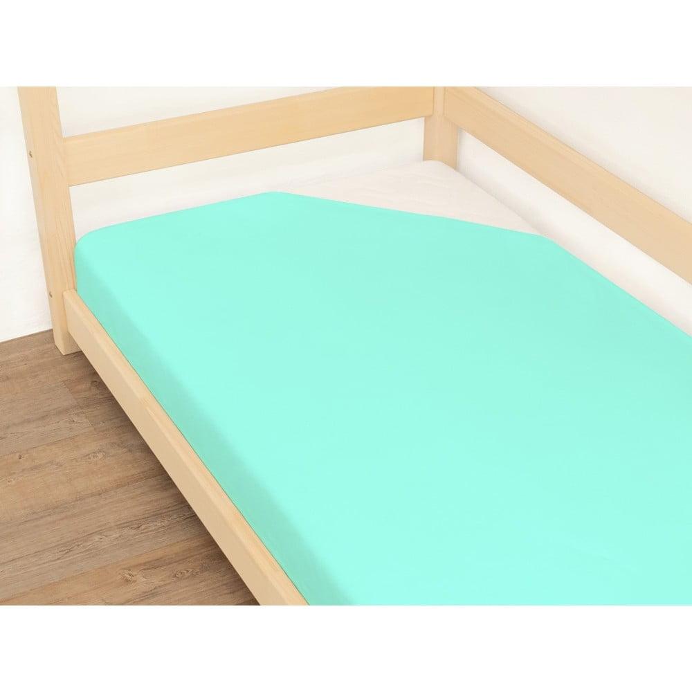 Modrá plachta z bavlny Benlemi Jersey, 90 x 200 cm