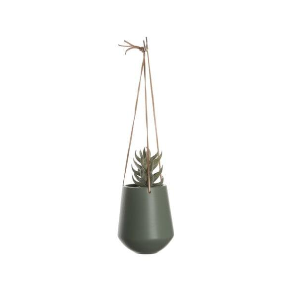 Zelený závesný kvetináč Karlsson Skittle, ⌀13,5 cm