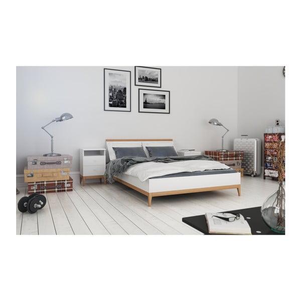 Dvojlôžková posteľ z masívneho borovicového dreva SKANDICA Livia, 140 x 200 cm