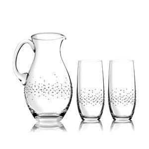 Sada karafy a 2 pohárov Siena so Swarovski Elements v luxusnom balení