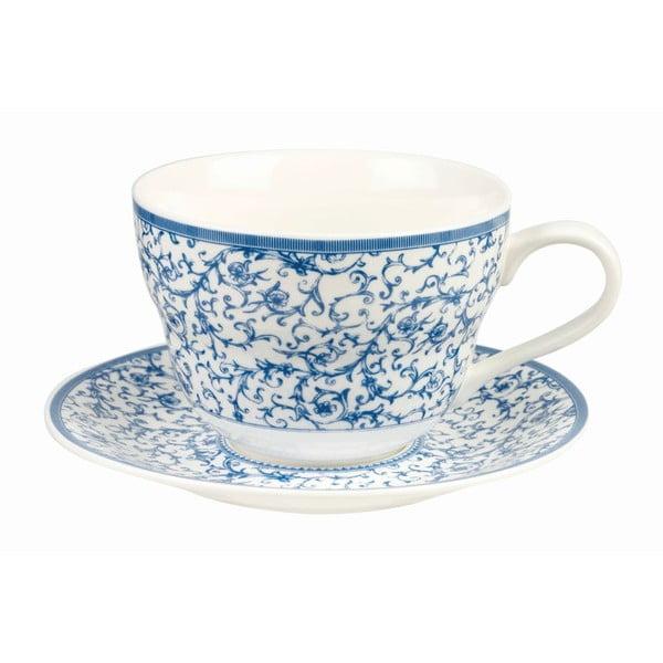 Hrnček s tanierikom Blue Story Arabesque, 390 ml