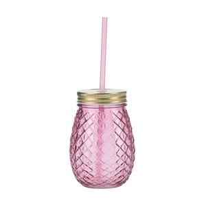 Ružový pohár so slamkou Miss Étoile Pineapple