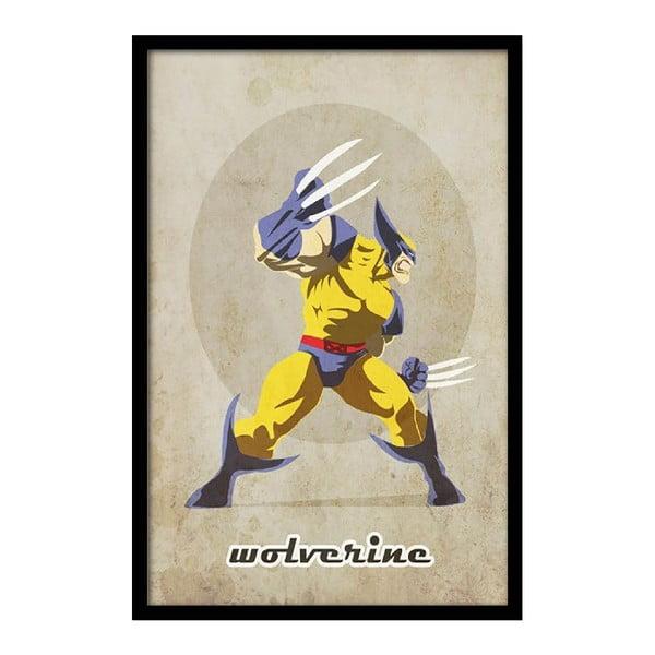 Plagát Angry Wolverine, 35x30 cm