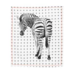 Kuchynská utierka Present Time Tiles Zebra, 50x70 cm