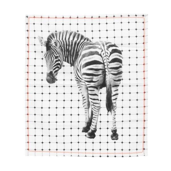 Kuchynská utierka Present Time Tiles Zebra, 50x70cm