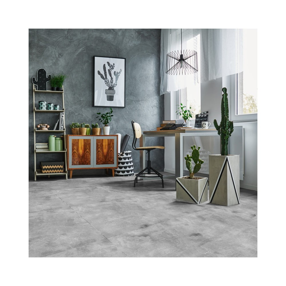 Samolepka na podlahu Ambiance Slab Stickers Waxed Concrete, 45 × 45 cm