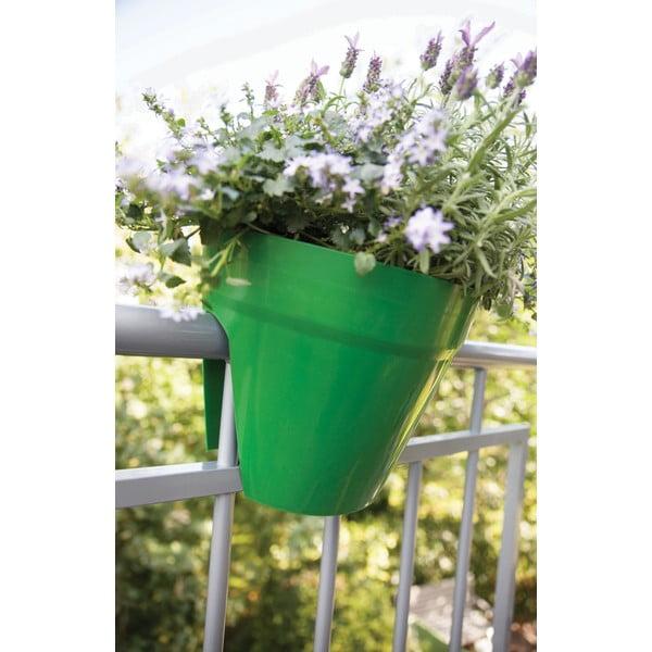 Sada 3 kvetináčov na zábradlie Esschert Design Happy