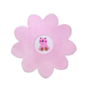 Detský koberec Beybis Pink Teddy, 120 cm