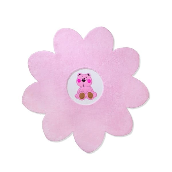 Detský  koberec Beybis Pink Teddy, 150 cm