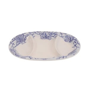 Keramický tanier InArt Shells, 33x24 cm
