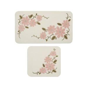Sada 2 kúpeľňových predložiek Confetti Bathmats Margherita White