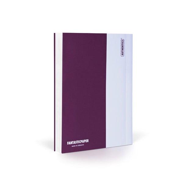 Zápisník FANTASTICPAPER A6 Aubergine/White, čistý