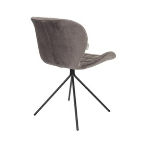 Sada 2 sivých stoličiek Zuiver OMG Velvet