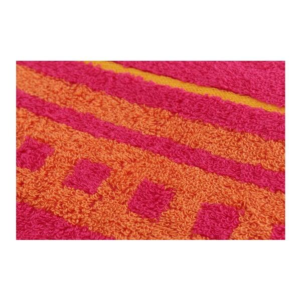 Sada 2 osušiek Clay Raspberry, 70x140 cm