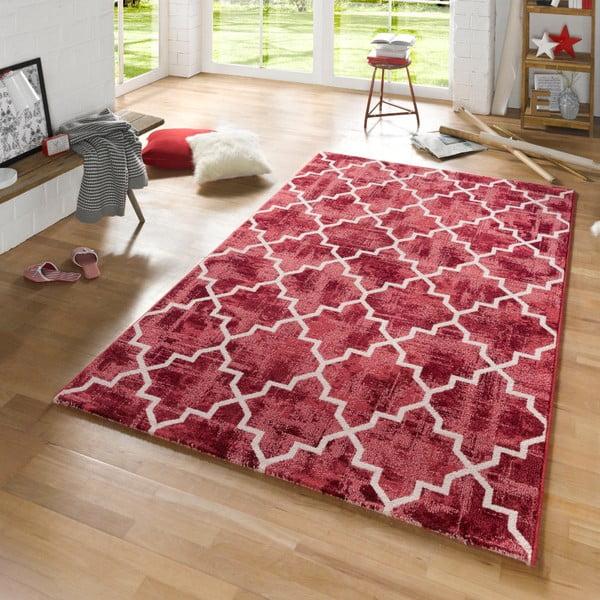 Červený koberec Mint Rugs Diamond, 133 x 195 cm