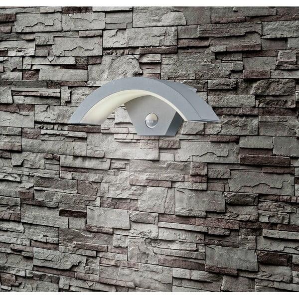 Záhradné nástenné svetlo s pohybovým čidlom Ohio Titanium, 30 cm