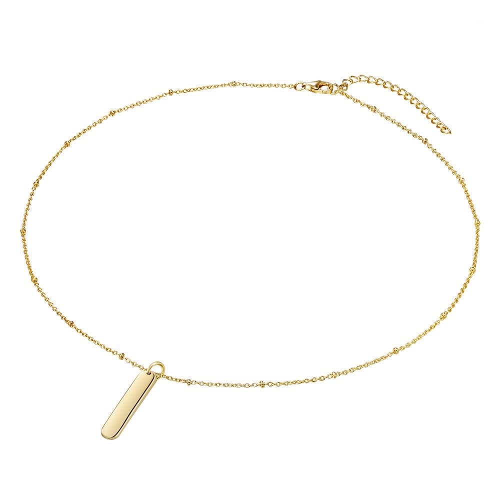 ad7b7ce01 Dámsky strieborný náhrdelník v zlatej farbe CARAT 1934 Simple | Bonami