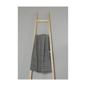 Tmavosivý pruhovaný bavlnený uterák My Home Plus Spa, 50×90 cm
