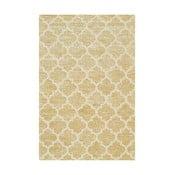 Ručne tuftovaný žltý koberec Bakero Diamond, 153x244cm