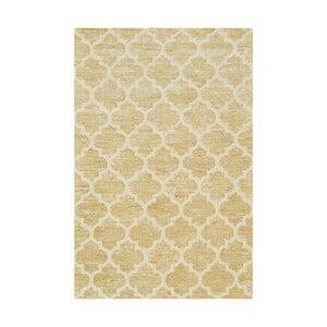 Ručne tuftovaný žltý koberec Bakero Diamond, 153x244 cm