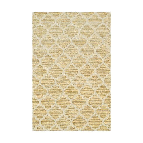 Ručne tuftovaný žltý koberec Bakero Diamond, 153×244cm