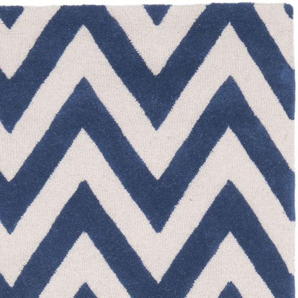 Vlnený koberec Stella Navy, 121x182 cm