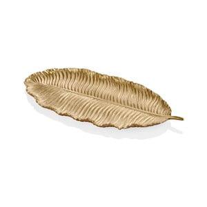 Dekoratívny list v zlatej farbe The Mia Leaf, 39 x 17 cm