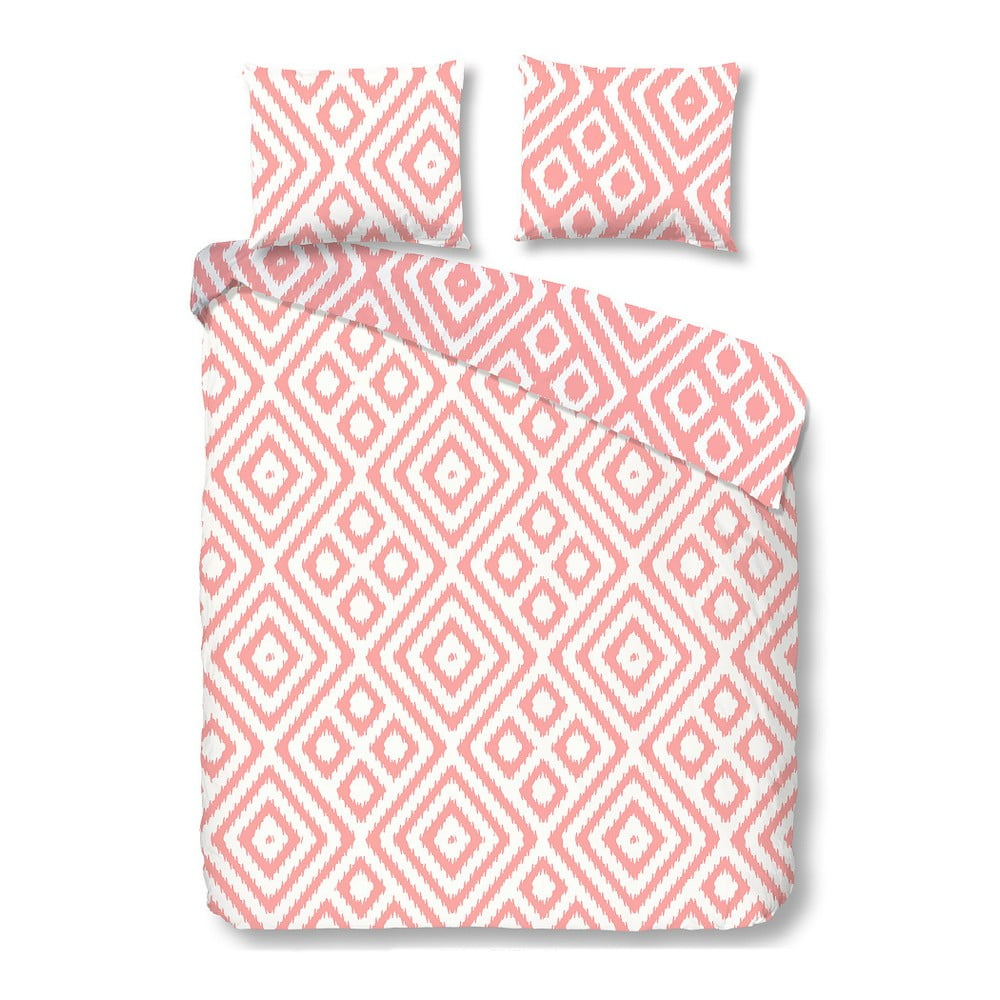Ružové obliečky na jednolôžko z bavlny Muller Textiels Good Morning Frits, 140 × 200 cm