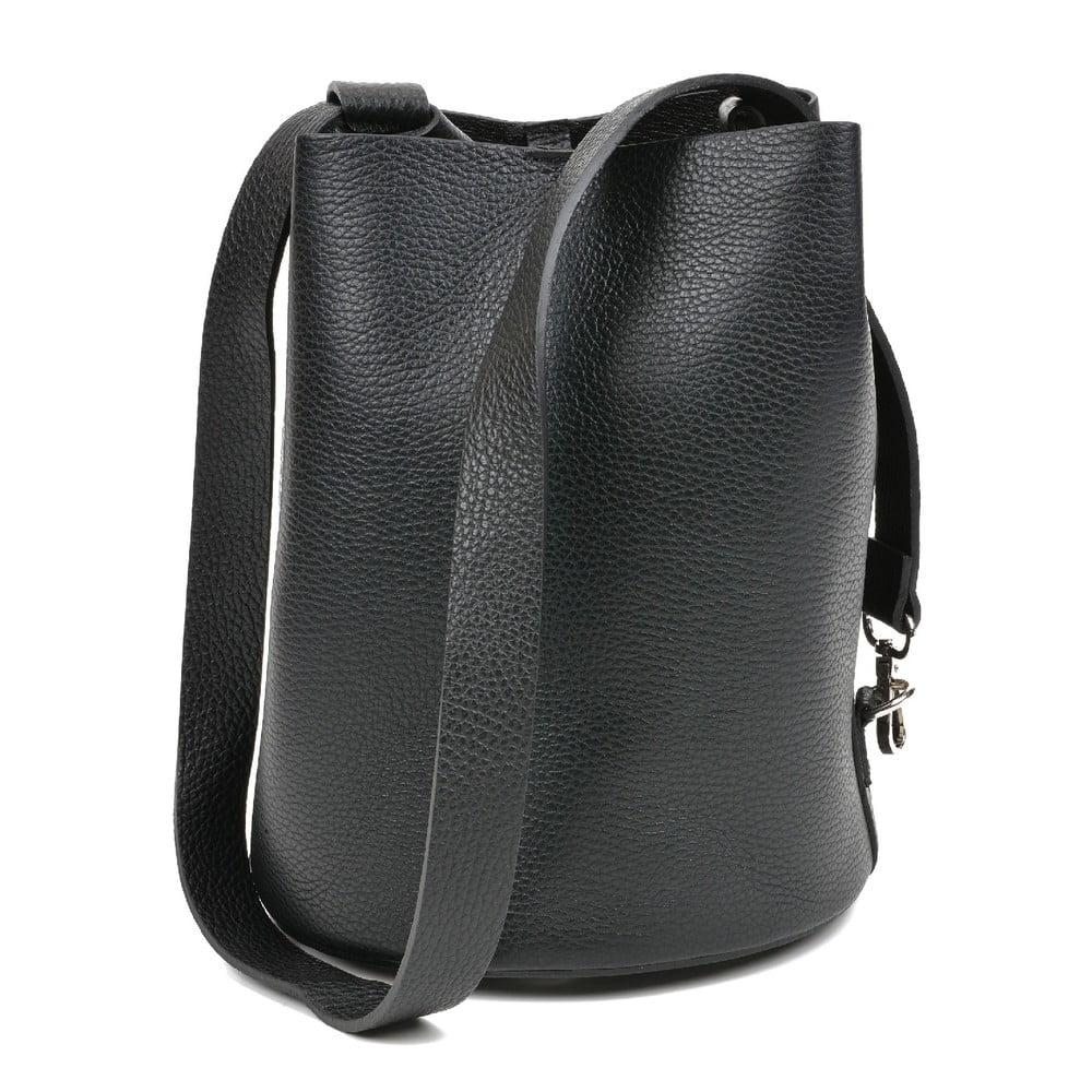 Čierna kožená kabelka Mangotti Bags Monica
