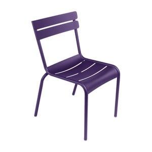 Fialová záhradná stolička Fermob Luxembourg
