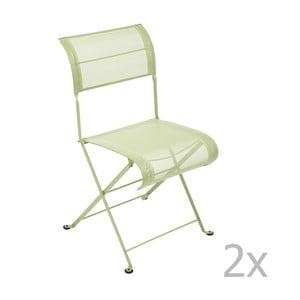 Sada 2 zelenkavých skladacích stoličiek Fermob Dune
