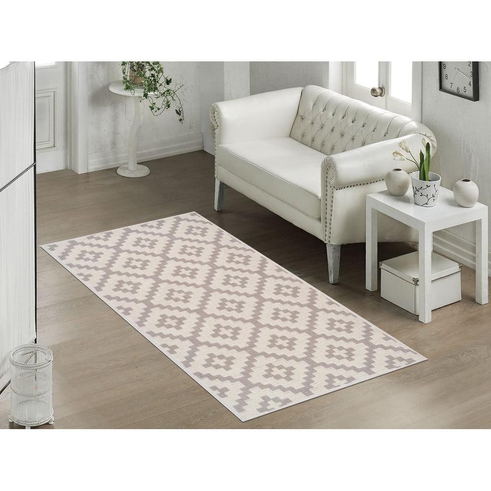 Odolný bavlnený koberec Vitaus Art Bej, 80 × 150 cm