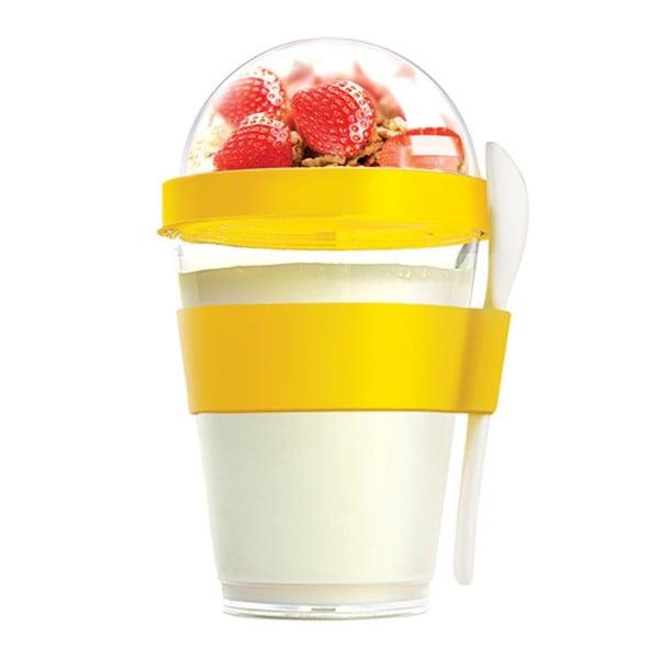 Žltý desiatový téglik Yo2GO, 360 ml