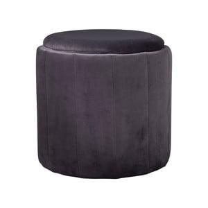 Sivá čalúnená stolička Native Mystique, ⌀43 cm