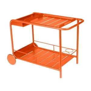 Oranžový servírovací stolík Fermob Luxembourg