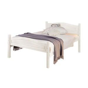 Biela posteľ z masívneho borovicového dreva Støraa Barney, 160 x 200 cm