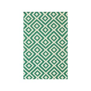 Vlnený koberec Luisa Green, 180x120 cm