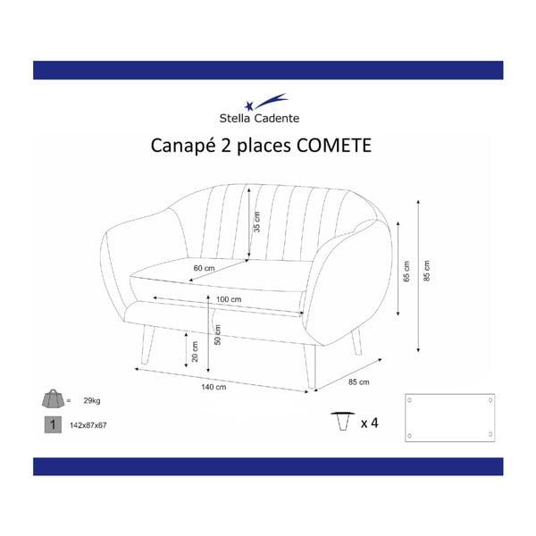 Fialová dvojmiestna pohovka Scandi by Stella Cadente Maison Comete