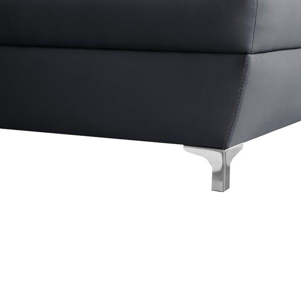 Antracitová pohovka Modernist Cardigan, pravý roh