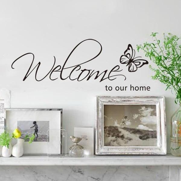 Dekoratívna samolepka Our Home, 26x71 cm