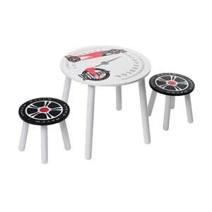 Detský stolík a 2 stoličky Racer