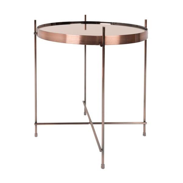 Príručný stolík v medenej farbe Zuiver Cupid