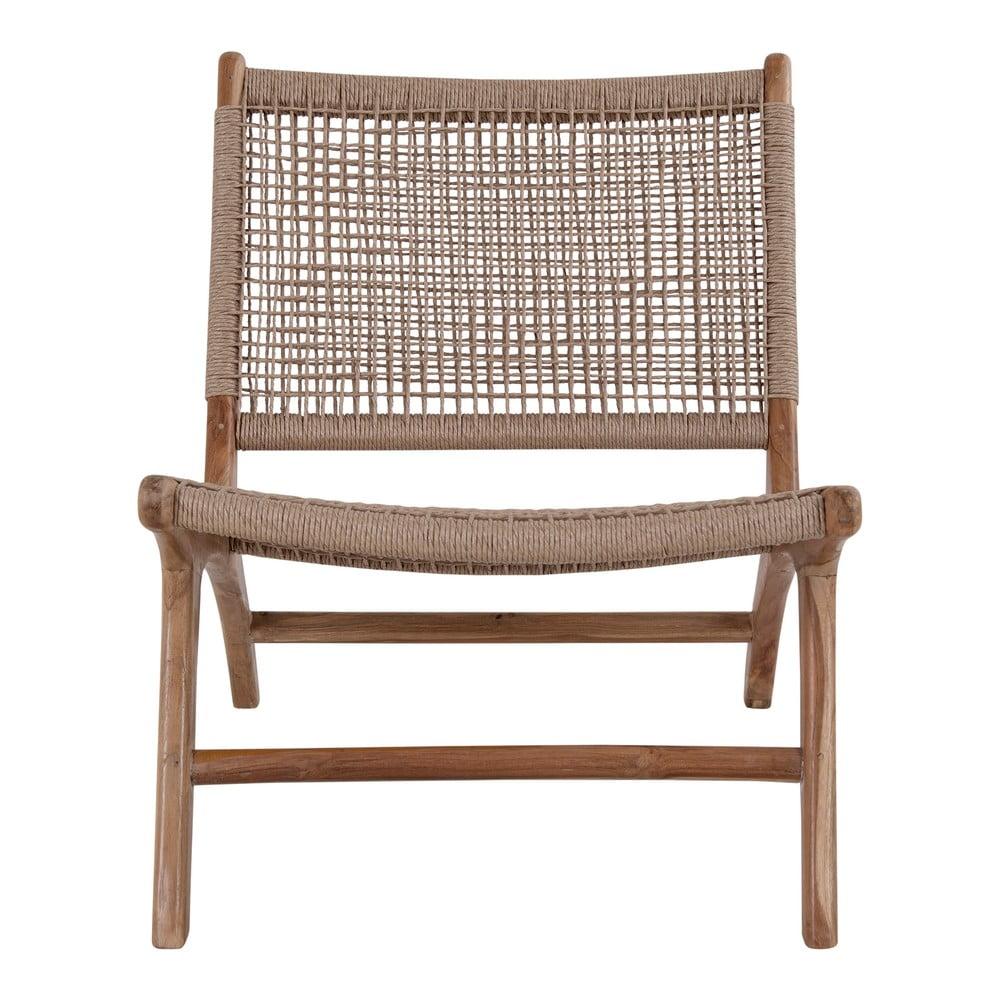 Prírodné stoličky z umelého ratanu a teakového dreva House Nordic Derby