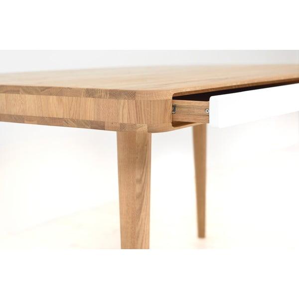 Jedálenský stôl z dubového dreva Gazzda Ena Two, 140 x 90 x 75 cm