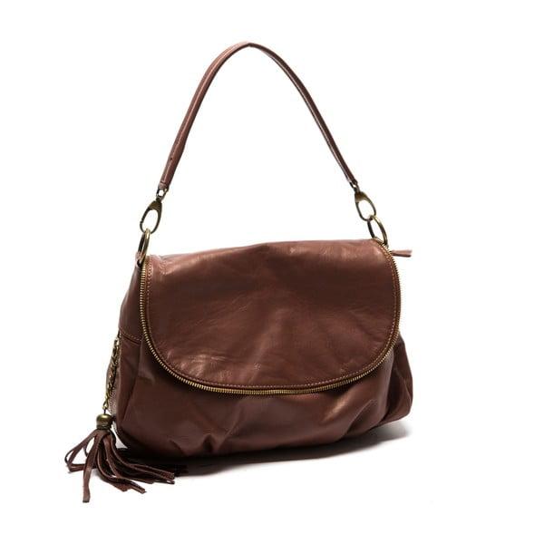 Hnedá kožená kabelka Sofia Cardoni Dona