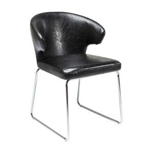 Sada 2 čiernych jedálenských stoličiek Kare Design Atomic