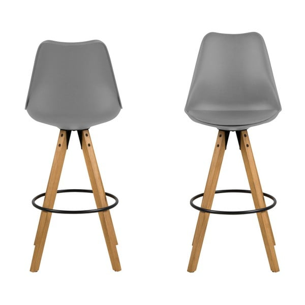Sada 2 sivých barových stoličiek Actona Dima